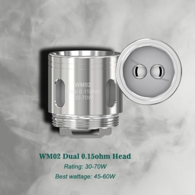 WM02 Dual 0,15ohm *WISMEC* **PACK x5**