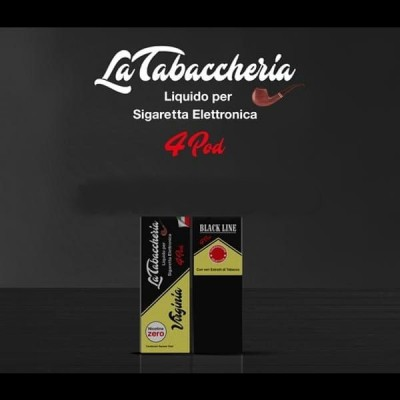 Virginia BLACK LINE 4POD 3nic 10ML *LA TABACCHERIA*